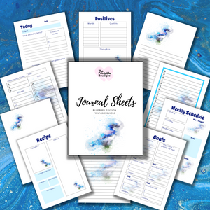 Journal Note Page Inserts - Bluebird Edition