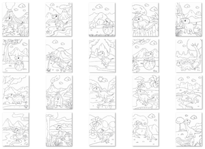 Dinky Dinosaurs Children's Colouring Collection - 20 printables