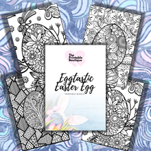 Load image into Gallery viewer, Eggtastic Easter Egg Colouring Bundle - 20 Printables