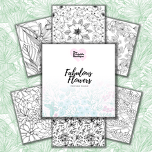Load image into Gallery viewer, Fabulous Flowers Colouring Bundle - 48 Printables