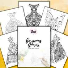 Load image into Gallery viewer, Gorgeous Gowns Bundle - 10 Printables