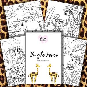 Jungle Fever Children's Colouring Collection - 10 printables