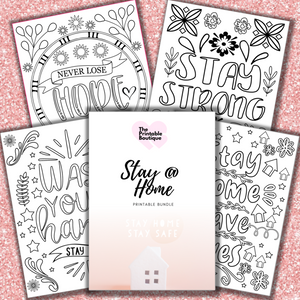 NEW - Stay at Home Special Bundle - 10 Printables