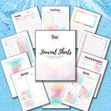 Load image into Gallery viewer, Journal Note Page Inserts - Watercolour Edition