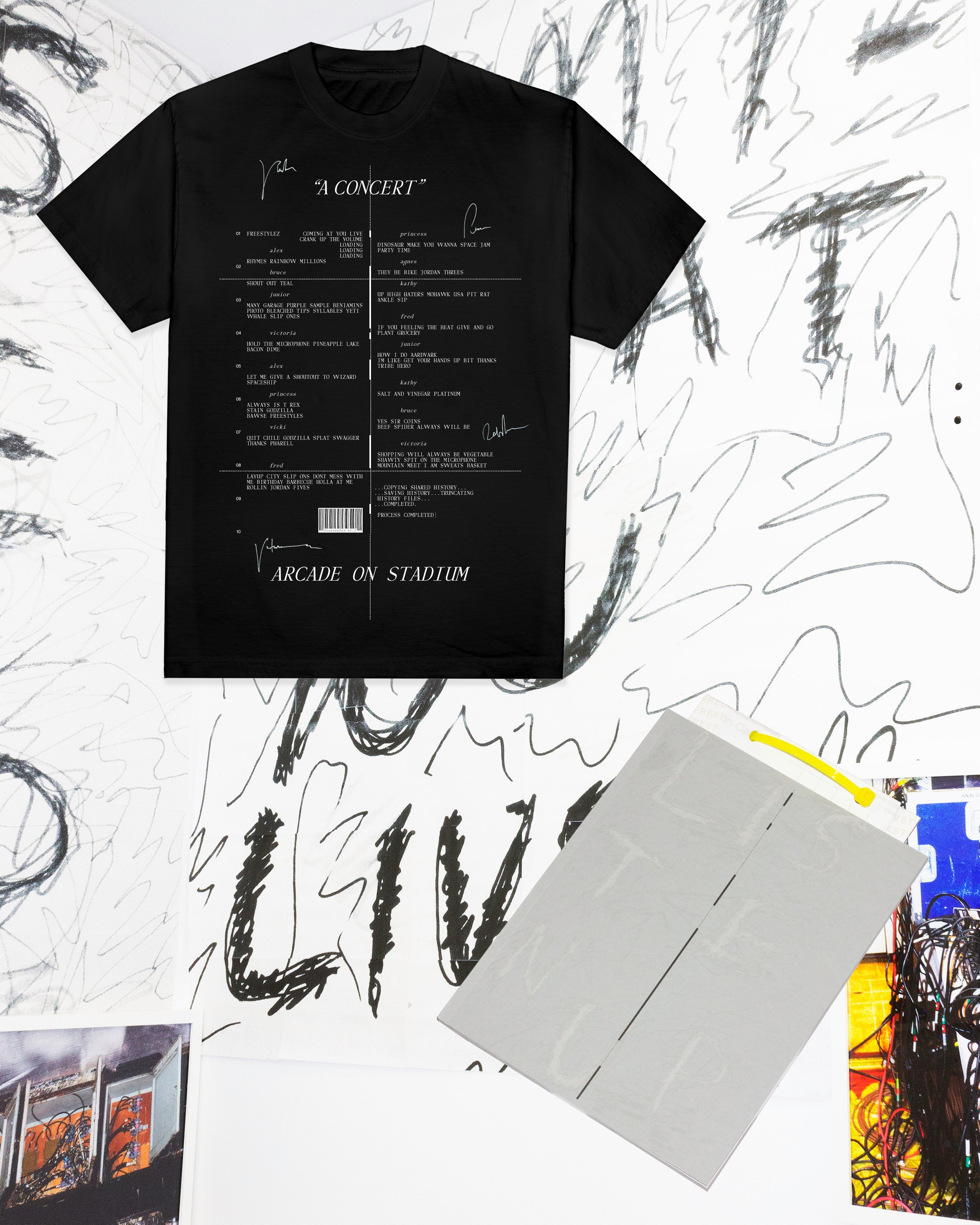 """A Concert"" at Arcade On Stadium Short Sleeve (Preorder) + Freestylez The Book"