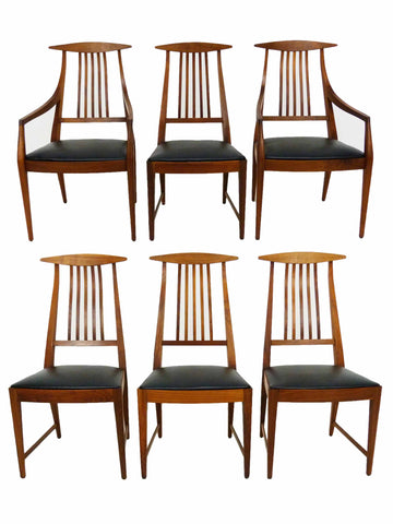 Kipp Stewart for Calvin Furniture's American Design Foundation Dining Chairs Mid Century 1