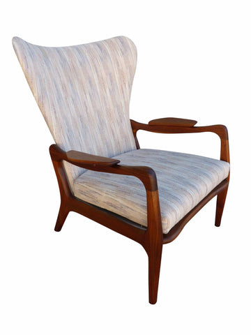 Adrian Pearsall Mid century 1410-C Wing Back Craft Associates Lounge Arm Chair 1