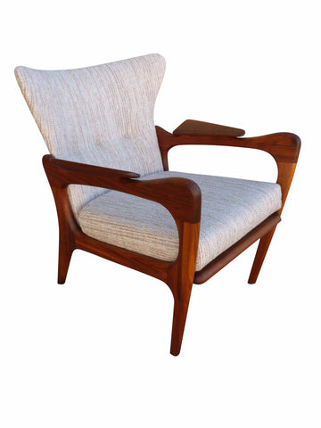 Adrian Pearsall 2291-C Craft Associates Wing Back Lounge Chair 1
