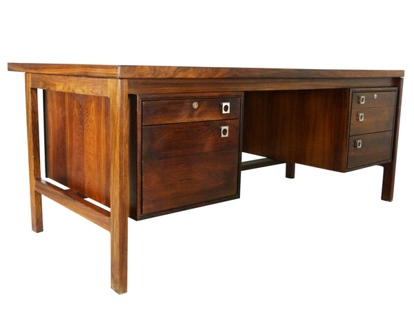 Arne Vodder Executive Danish Modern Rosewood Desk Sibast Img 1