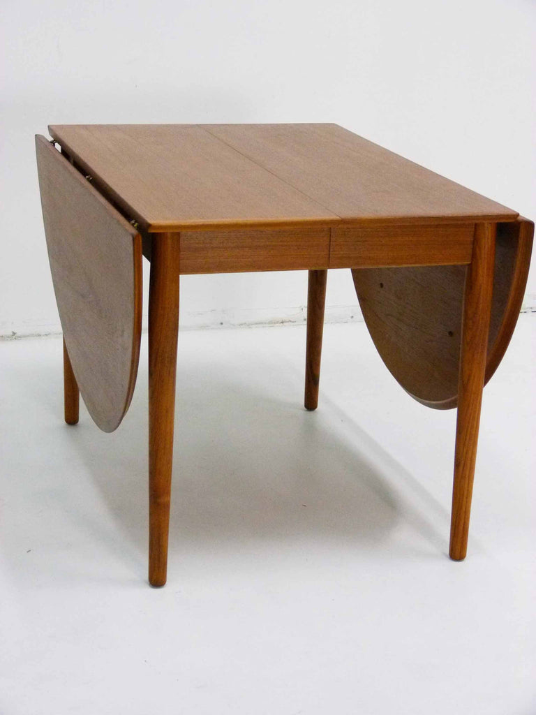 drop side dining table. arne vodder sibast teak danish drop leaf dining table small side