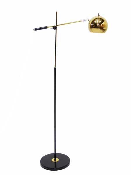 Articulating Robert Sonneman Brass Fish Eye Ball Lamp  1