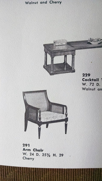 empire lounge chair Baker Furniture 291 Continental Collection 14