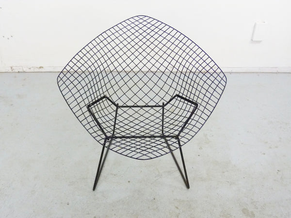 Diamond Chair Black Brown Leather Harry Bertoia Knoll 8