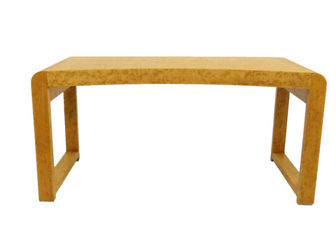 Birds Eye Maple Concave Mid Century Milo Baughman Bench 1
