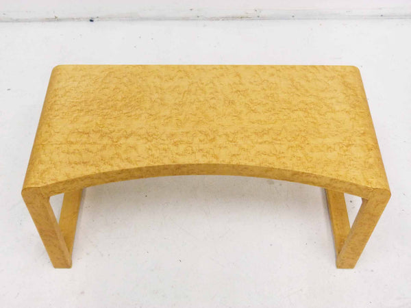 Birds Eye Maple Concave Mid Century Milo Baughman Bench 2
