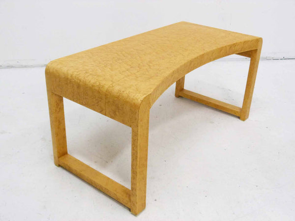 Birds Eye Maple Concave Mid Century Milo Baughman Bench 4