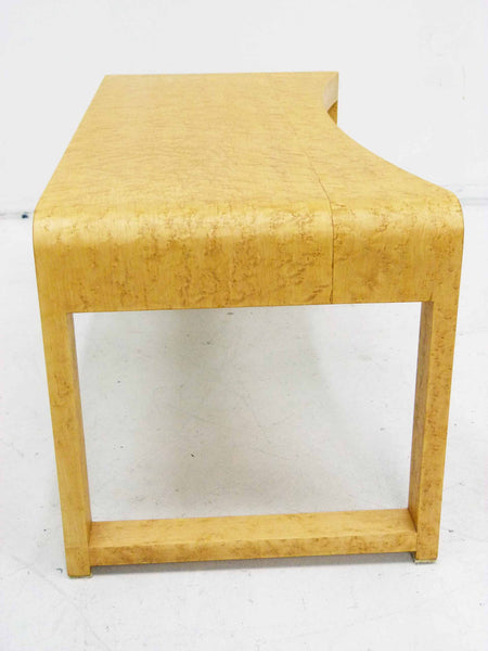 Birds Eye Maple Concave Mid Century Milo Baughman Bench 5