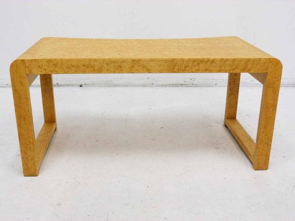 Birds Eye Maple Concave Mid Century Milo Baughman Bench 6