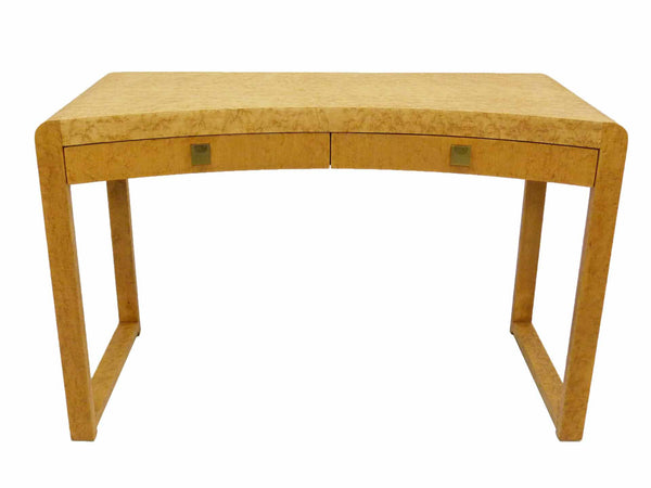 Birds Eye Maple Concave Mid Century Milo Baughman Desk 1