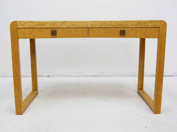 Birds Eye Maple Concave Mid Century Milo Baughman Desk 2