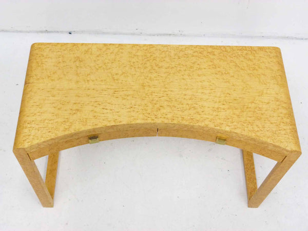 Birds Eye Maple Concave Mid Century Milo Baughman Desk 3