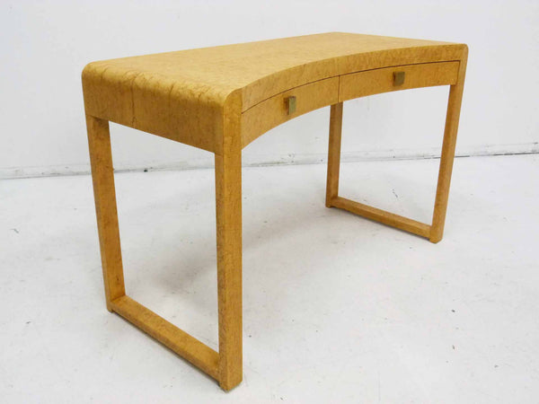 Birds Eye Maple Concave Mid Century Milo Baughman Desk 4