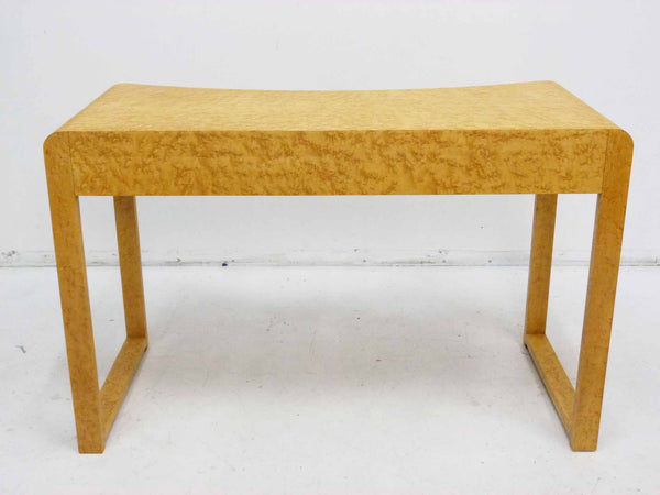Birds Eye Maple Concave Mid Century Milo Baughman Desk 6