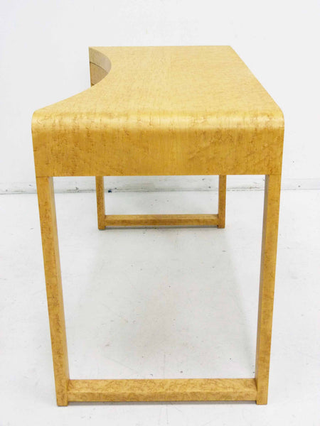 Birds Eye Maple Concave Mid Century Milo Baughman Desk 7