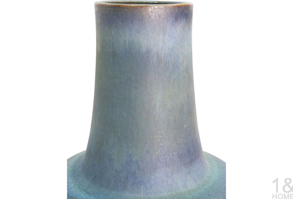 Monumental Studio Blue Glaze Floor Vase