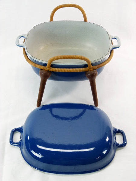Jens Quistgaard Anchor-Line Blue Casserole Pan w/ Stand 6