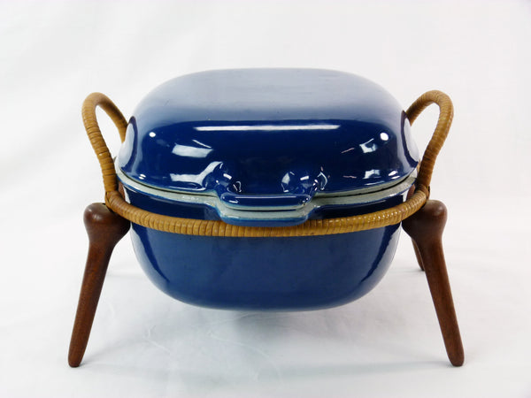 Jens Quistgaard Anchor-Line Blue Casserole Pan w/ Stand 10