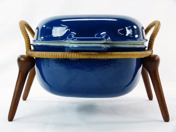 Jens Quistgaard Anchor-Line Blue Casserole Pan w/ Stand 1