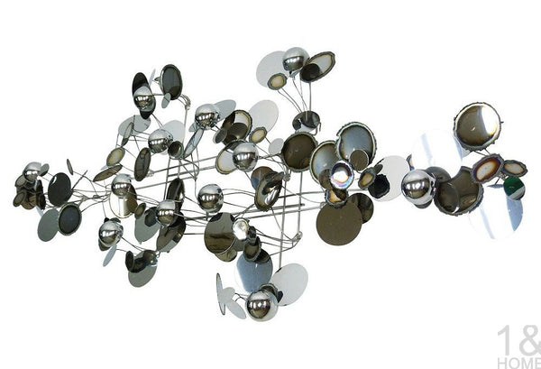 C. Jere Chrome Metal Raindrops Art Sculpture Vintage Img 2