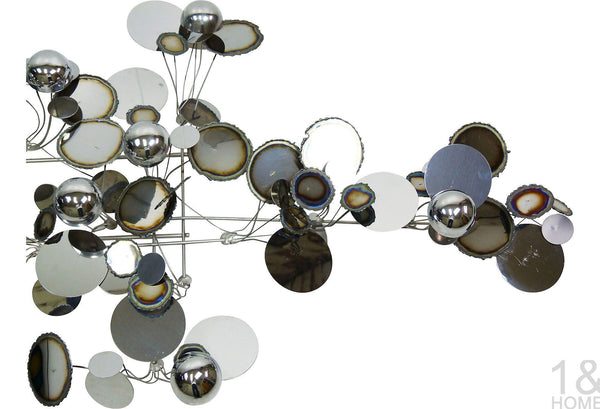 C. Jere Chrome Metal Raindrops Art Sculpture Vintage Img 5