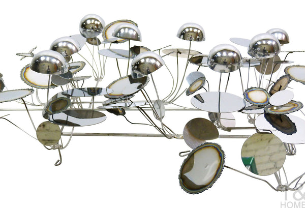 C. Jere Chrome Metal Raindrops Art Sculpture Vintage Img 6