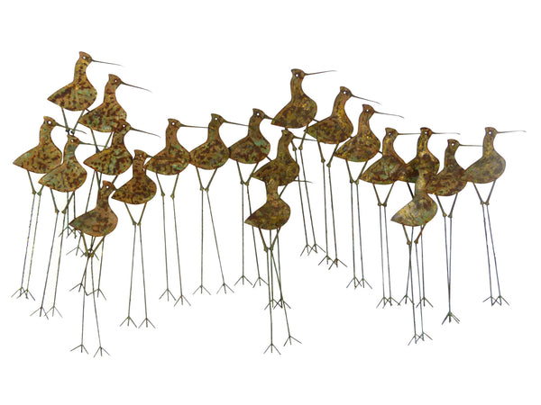 C Jere Sandpipers Vintage Wall Art Sculpture Img 1
