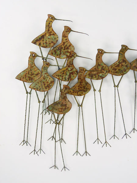 C Jere Sandpipers Vintage Wall Art Sculpture Img 2
