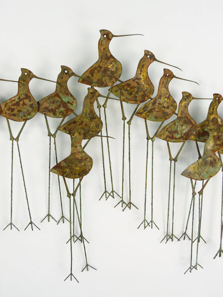 C Jere Sandpipers Vintage Wall Art Sculpture Img 3