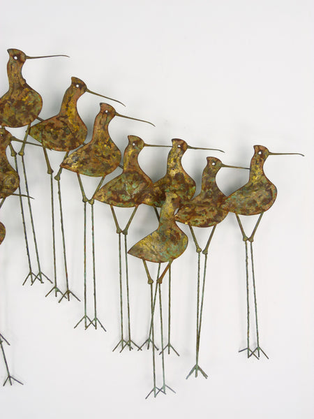 C Jere Sandpipers Vintage Wall Art Sculpture Img 4
