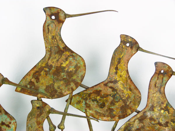 C Jere Sandpipers Vintage Wall Art Sculpture Img 6
