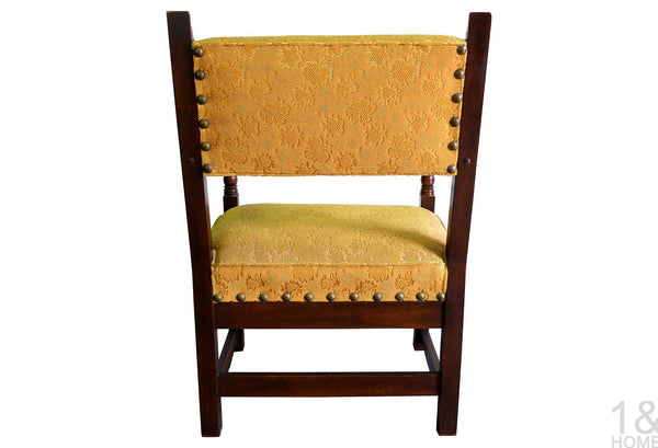 Hand-Carved Vintage Spanish Armchair Img 3