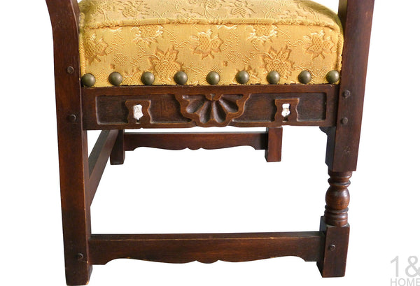 Hand-Carved Spanish Armchair