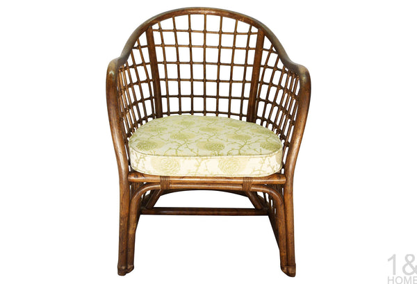 Chinoiserie Vintage Fretwork Bamboo Chair Img 2