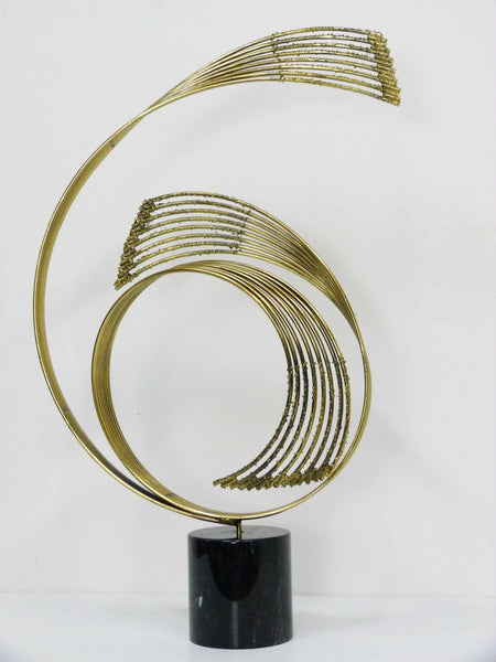 Curtis Jere Swiriling Table Sculpture Spiral C. Jere 1985 2