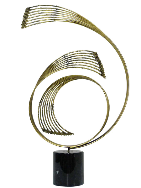 Curtis Jere Swiriling Table Sculpture Spiral C. Jere 1985 1