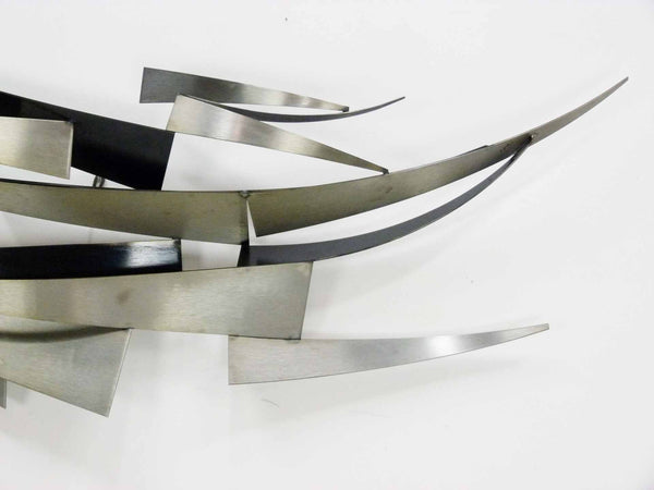 Curtis C jere Abstract waves nautical 1978 Wall Scuplture 4