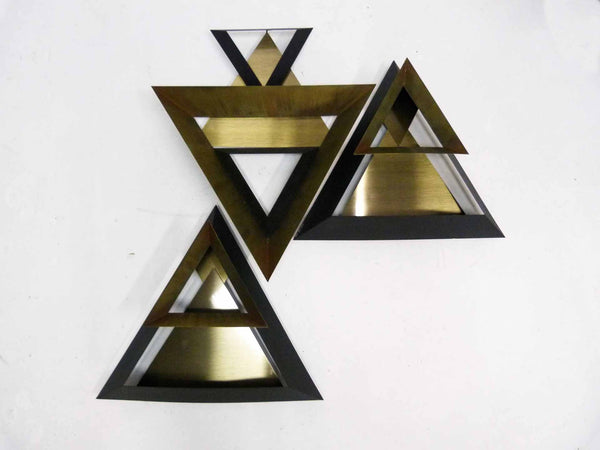 Curtis Jere C. Triangle Wall Sculpture Set 3 2