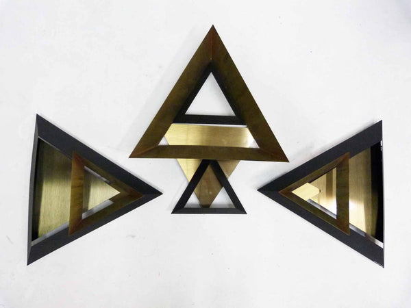 Curtis Jere C. Triangle Wall Sculpture Set 3 3