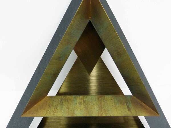 Curtis Jere C. Triangle Wall Sculpture Set 3 6