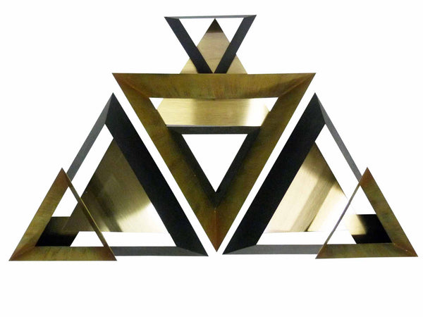 Curtis Jere C. Triangle Wall Sculpture Set 3 1